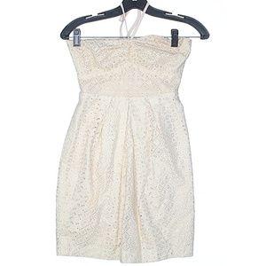 Leona Edmiston Ivory Halter Dress